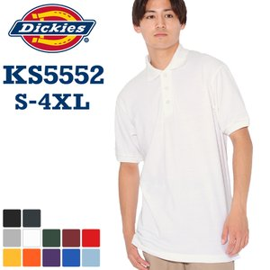 ディッキーズ Dickies ディッキーズ ポロシャツ アメカジ ポロシャツ 半袖 メンズ おしゃれ ポロシャツ 半袖 無地 鹿の子 大きいサイズ f-box