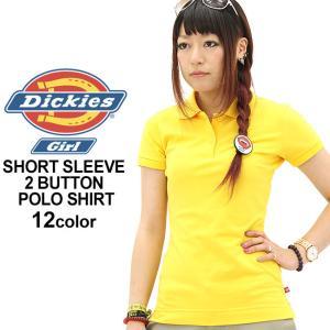 ディッキーズガール ポロシャツ 半袖 無地 レディース PQ924L|USAモデル Dickies Girl|ディッキーズ 大きいサイズ 鹿の子|f-box