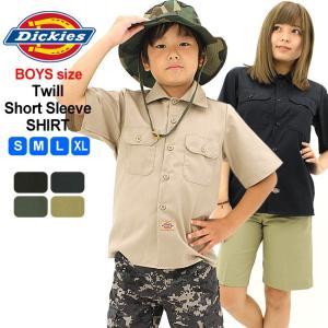 [キッズ] ディッキーズ ボーイズ シャツ 半袖 ワークシャツ QS201|USAモデル Dickies Boys|半袖シャツ 子供 男の子 女の子 大きいサイズ|f-box