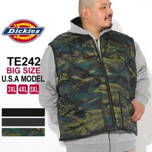 [ビッグサイズ] ディッキーズ キルティング ナイロンベスト TE242 メンズ|大きいサイズ USAモデル Dickies|f-box