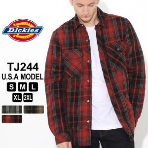 ディッキーズ シャツジャケット ボアライニング TJ244 メンズ 大きいサイズ USAモデル Dickies (clearance) f-box