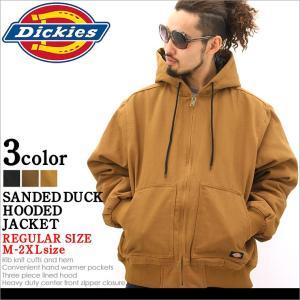 ディッキーズDickies SANDED DUCK HOODED JACKET ジャケット メンズ 秋冬 アウター ブルゾン 大きいサイズ ダック 黒 ブラック XL XXL LL 2L 3L|f-box