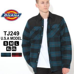 ディッキーズ ジャケット キルトライニング チェック柄 TJ249 メンズ ネルシャツ f-box