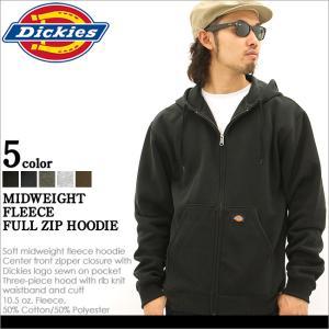 ディッキーズ パーカー ジップアップ 無地 TW391 メンズ 裏起毛|大きいサイズ USAモデル Dickies|防寒 スウェット|f-box