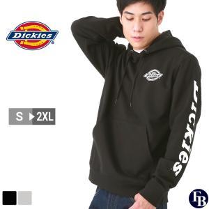 ディッキーズ パーカー プルオーバー メンズ 裏起毛 袖ロゴ TW395 S-2XL Dickies / 3L 大きいサイズ ブランド 定番アイテム|f-box