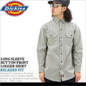 ディッキーズ Dickies ディッキーズ シャツ 長袖 メンズ ヒッコリーストライプ ワークシャツ メンズ 長袖シャツ メンズ 大きいサイズ LL XL XXL f-box