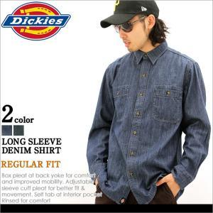 Dickies ディッキーズ シャツ 長袖 メンズ デニムシャツ メンズ 長袖 大きいサイズ アメカジ ブランド 人気 長袖シャツ 秋冬 f-box