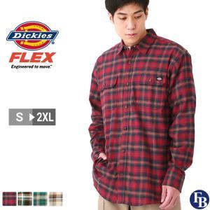 ディッキーズ シャツ 長袖 メンズ フランネル チェック ポケット付き WL650 S-2XL Dickies / 3L 大きいサイズ ブランド 定番アイテム|f-box