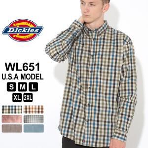 ディッキーズ シャツ 長袖 チェック柄 WL651 メンズ ボタンダウンシャツ|大きいサイズ USAモデル Dickies|f-box
