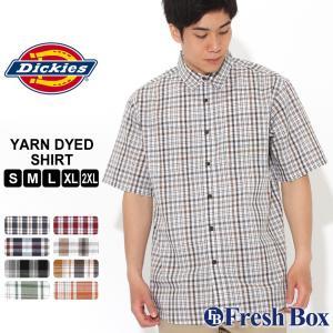 ディッキーズ シャツ 半袖 チェック柄 WS525 メンズ|大きいサイズ USAモデル Dickies|半袖シャツ カジュアルシャツ|f-box