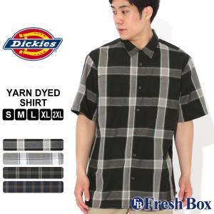 ディッキーズ シャツ 半袖 チェック柄 WS550 メンズ|大きいサイズ USAモデル Dickies|半袖シャツ カジュアルシャツ|f-box