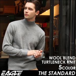 EAGLE THE STANDARD イーグル タートルネック メンズ 長袖 無地 タートルネックセーター ニットセーター sweater|f-box