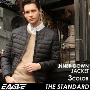 EAGLE THE STANDARD イーグル インナーダウンジャケット ダウンジャケット メンズ 軽量 ライトダウンジャケット インナーダウン 防寒 撥水 大きい|f-box