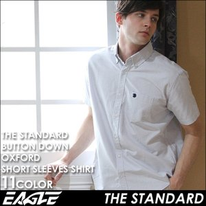 【送料無料】 シャツ 半袖 メンズ ボタンダウン オックスフォード 大きいサイズ 日本規格|ブランド EAGLE STANDARD イーグル|半袖シャツ カジュアル|f-box