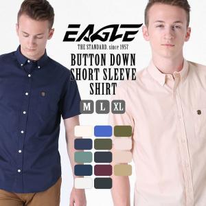 シャツ 半袖 メンズ ボタンダウン ポケット 大きいサイズ 日本規格|ブランド EAGLE THE STANDARD イーグル|半袖シャツ カジュアル 2019 春夏 新作|f-box