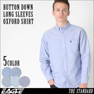 シャツ 長袖 メンズ ボタンダウン オックスフォード 大きいサイズ 日本規格|ブランド EAGLE THE STANDARD イーグル|長袖シャツ|f-box