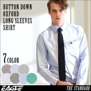 シャツ 長袖 メンズ ボタンダウン オックスフォード 大きいサイズ 日本規格|ブランド EAGLE THE STANDARD イーグル|長袖シャツ カジュアルシャツ|f-box