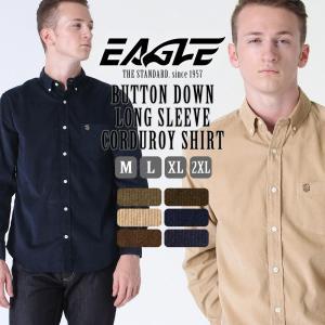 シャツ 長袖 メンズ ボタンダウン コーデュロイ 大きいサイズ 日本規格|ブランド EAGLE THE STANDARD イーグル|長袖シャツ カジュアルシャツ|f-box