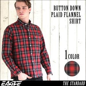 ネルシャツ メンズ 厚手 チェックシャツ フランネルシャツ メンズ チェック フランネル シャツ ボタンダウンシャツ カジュアルシャツ EAGLE THE STANDARD|f-box