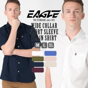 シャツ 半袖 メンズ ワイドカラー ポケット 大きいサイズ 日本規格|ブランド EAGLE THE STANDARD イーグル|半袖シャツ カジュアル 2019 春夏 新作|f-box