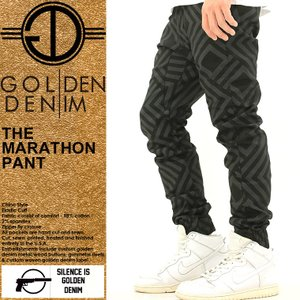 ゴールデンデニム/GOLDEN DENIM/ジョガーパンツ/ジョガーパンツ メンズ/大きいサイズ/サルエルパンツ/サルエル/柄/プリント/ストリート|f-box