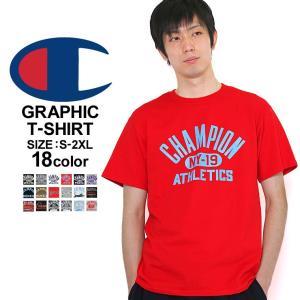チャンピオン Tシャツ 半袖 メンズ 大きいサイズ USAモデル|ブランド ビッグロゴ 半袖Tシャツ ロゴ アメカジ|f-box