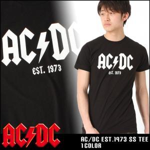 AC DC ロックTシャツ 半袖 メンズ プリント|大きいサイズ USAモデル|半袖Tシャツ バンドT ロゴT ミュージック|f-box