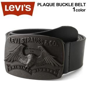 Levi's リーバイス ベルト バックル ベルト メンズ 本革 カジュアル 大きいサイズ メンズ 黒 ブラック|f-box