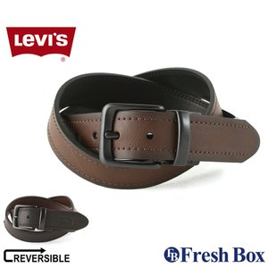 Levi's リーバイス ベルト メンズ 本革 ブランド カジュアル リバーシブル 大きいサイズ [levis-11lv120z12] (USAモデル)|f-box