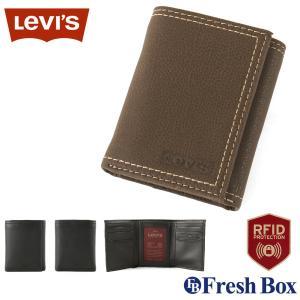 Levi's リーバイス 財布 メンズ 三つ折り ブランド カジュアル 本革 コンパクト [levis-31lv110021] USAモデル|f-box