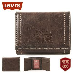 リーバイス 財布 三つ折り 小銭入れなし パスケース 本革 31LV110028 USAモデル|ブランド Levi's Levis|ミニ財布 コンパクト|f-box
