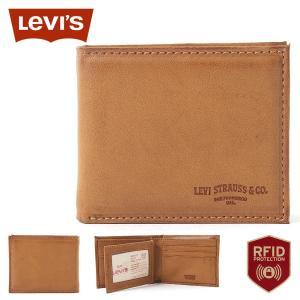 リーバイス 財布 二つ折り 小銭入れなし 中ベラ付き パスケース 本革 31LV130028 USAモデル|ブランド Levi's Levis|f-box