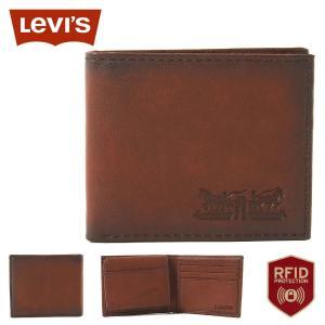 リーバイス 財布 二つ折り 小銭入れなし 中ベラ付き パスケース 本革 31LV220010 USAモデル|ブランド Levi's Levis|f-box