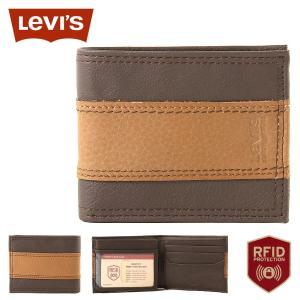 リーバイス 財布 二つ折り 小銭入れなし 中ベラ付き パスケース 本革 31LV240017 USAモデル|ブランド Levi's Levis|f-box