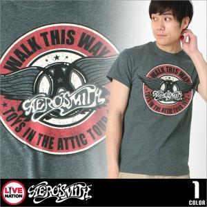 エアロスミス Tシャツ 半袖 メンズ プリント|大きいサイズ USAモデル Aerosmith LIVE NATION ライブネーション|半袖Tシャツ バンドT ロゴT ミュージック|f-box