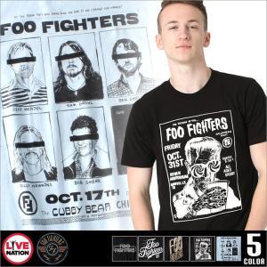 フー・ファイターズ Tシャツ 半袖 メンズ プリント|大きいサイズ USAモデル foo fighters LIVE NATION ライブネーション|半袖Tシャツ バンドT ロゴT|f-box
