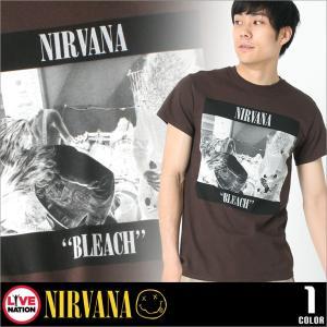 ニルヴァーナ Tシャツ 半袖 メンズ プリント|大きいサイズ USAモデル NIRVANA LIVE NATION ライブネーション|半袖Tシャツ バンドT ロゴT ミュージック|f-box