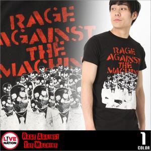 レイジ・アゲインスト・ザ・マシーン Tシャツ 半袖 メンズ プリント|大きいサイズ USAモデル Rage Against the Machine LIVE NATION|半袖Tシャツ バンドT|f-box
