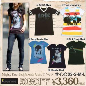 Mighty Fine【マイティーファイン】Ladys Rock Artist Tシャツ(mity-65)|f-box