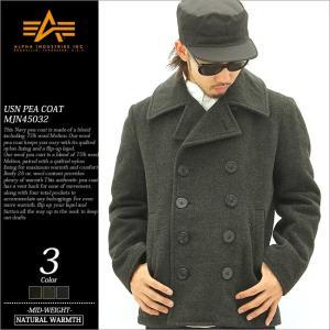 アルファ ピーコート メンズ MJN45032C1|大きいサイズ USAモデル ブランド ALPHA industries アルファインダストリーズ|防寒 Pコート アウター アメカジ|f-box