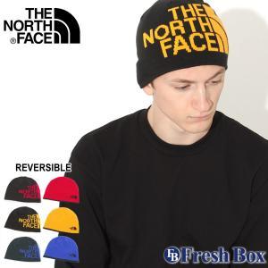 ノースフェイス ニット帽 TNF ロゴ リバーシブル メンズ レディース NF00AKND USAモデル|ブランド THE NORTH FACE|帽子 ビーニー ニットキャップ|f-box