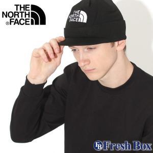 ノースフェイス ニット帽 TNF ロゴ つば付き メンズ レディース NF0A3FL9 USAモデル ブランド THE NORTH FACE 帽子 ビーニー ニットキャップ f-box