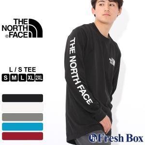 ノースフェイス Tシャツ TNF ロゴ 長袖 クルーネック 薄手 メンズ NF0A3X6K USAモデル|ブランド THE NORTH FACE|ロンT 長袖Tシャツ アメカジ|f-box