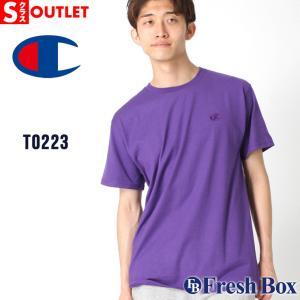 アウトレット 返品・交換・キャンセル不可|チャンピオン Tシャツ 半袖 クルーネック メンズ レディース 大きいサイズ T0223 ブランド アメカジ|f-box