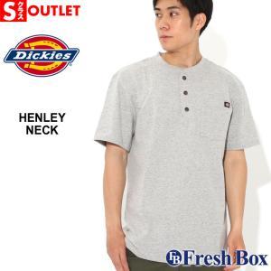 アウトレット 返品・交換・キャンセル不可|ディッキーズ Tシャツ 半袖 ヘンリーネック ヘビーウェイト 6.75oz メンズ|大きいサイズ Dickies|半袖Tシャツ|f-box