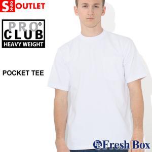 アウトレット 返品・交換・キャンセル不可 │ PRO CLUB プロクラブ tシャツ ポケット ヘビーウェイトtシャツ ブランド ポケット tシャツ 無地 Tシャツ|f-box
