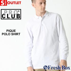 アウトレット 返品・交換・キャンセル不可|プロクラブ ポロシャツ 長袖 メンズ 大きいサイズ 127|ブランド PRO CLUB|長袖ポロシャツ アメカジ|f-box