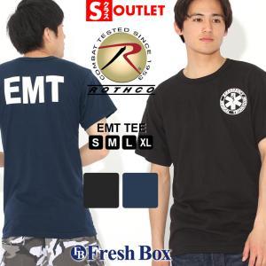 アウトレット 返品・交換・キャンセル不可|ロスコ Tシャツ 半袖 クルーネック EMT メンズ 大きいサイズ|ブランド ROTHCO|半袖Tシャツ アメカジ ミリタリー|f-box