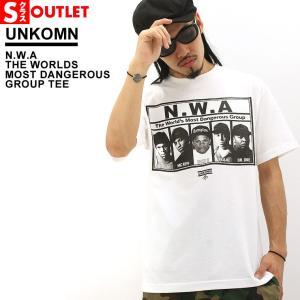 アウトレット 返品・交換・キャンセル不可|Unkomn N.W.A. Straight Outta Compton tシャツ メンズ 半袖 ストリート ミュージック ヒップホップ 大きいサイズ|f-box
