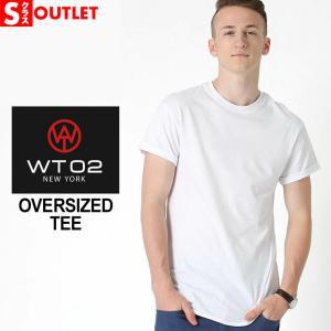 アウトレット 返品・交換・キャンセル不可|WT02 Tシャツ 半袖 無地 ロング丈 メンズ 17191-1015 大きいサイズ ダブルティー02 半袖Tシャツ ストリート|f-box